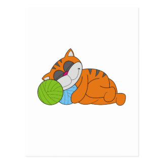 Cat Napping Tshirts and Gifts Postcard