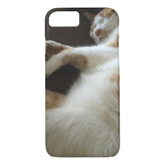 Cat naps on sofa iPhone 8/7 case