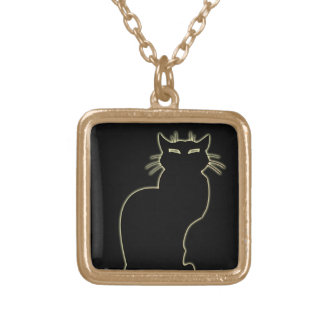 Cat Necklace Cat Lover Charm Necklace Cat Jewelry
