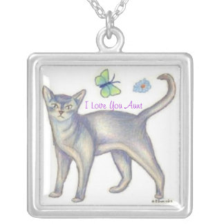 Cat Necklace for Aunt