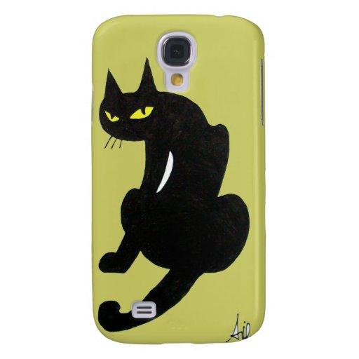 CAT NEGRO FUNDA PARA GALAXY S4