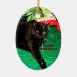 CAT NEGRO, ornamento de las FELICES NAVIDAD Adorno De Reyes