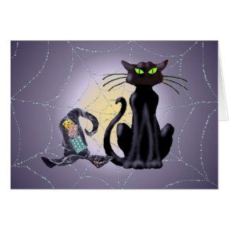 CAT NEGRO y GORRA de SHARON SHARPE Tarjeta De Felicitación