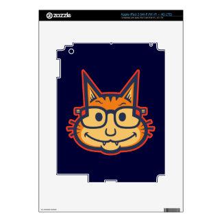 Cat Nerd II Decals For iPad 3