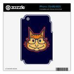 Cat Nerd II Decals For The iPhone 2G