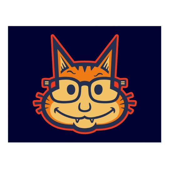Cat Nerd II Postcard