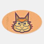 Cat Nerd II Sticker