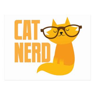 cat nerd postcard