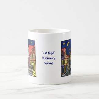 """Cat Night"" in Rothenburg Coffee Mugs"