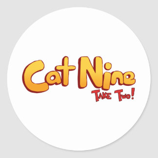 Cat Nine Logo Classic Round Sticker