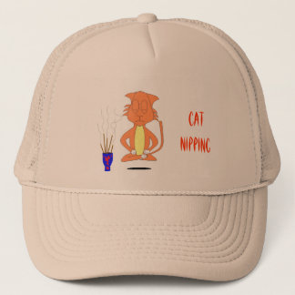Cat Nipping Trucker Hat