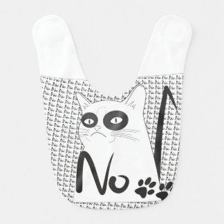 Cat No! Funny Baby Bib