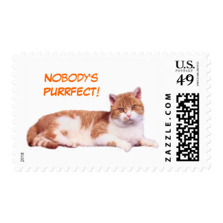 Cat Nobody's Purrfect Postage Stamp
