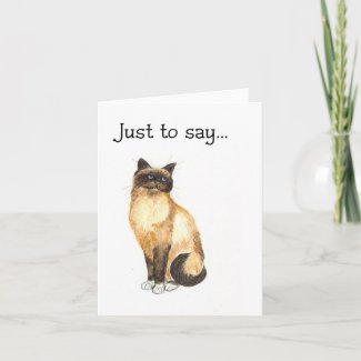 Cat Notecard - Just to say... card