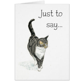 Cat Notecard - Just to say...