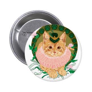 Cat Nouveau Button