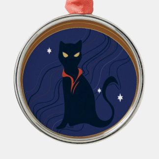 Cat Nouveau Metal Ornament