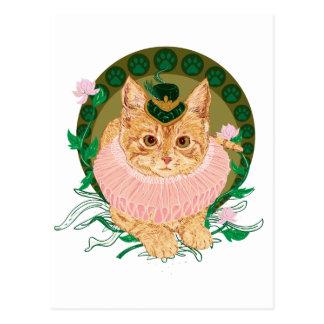 Cat Nouveau Postcard