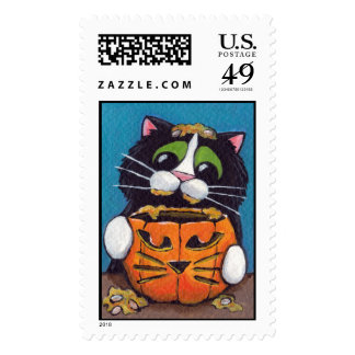 Cat O Lantern Postage