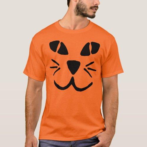 Cat_o_Lantern Pumpkin Face T_Shirt