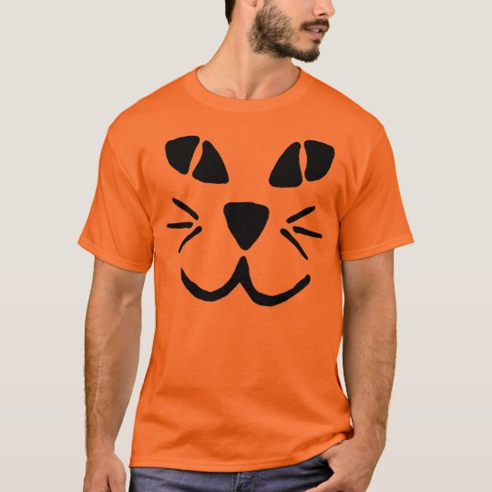 Cat-o-Lantern Pumpkin Face T-Shirt