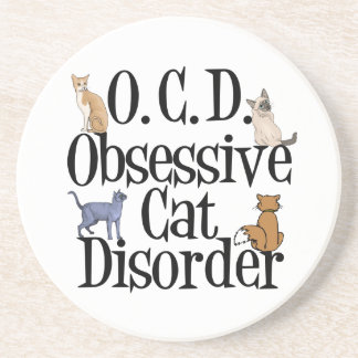 Cat Obsessed Drink Coaster