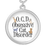 Cat Obsessed Round Pendant Necklace