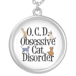 Cat Obsessed Silver Plated Necklace