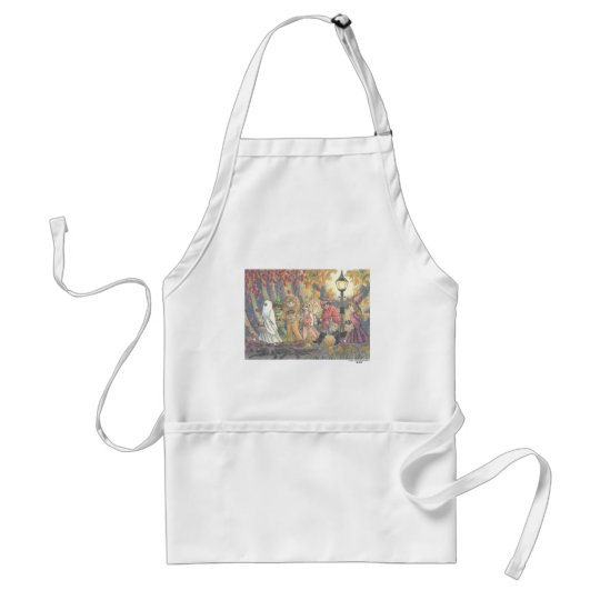 Cat of Black Trick or Treat Plate 3 Adult Apron