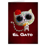 Cat of Day of The Dead Greeting Cards