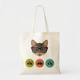 Cat of Glasses Tote Bag