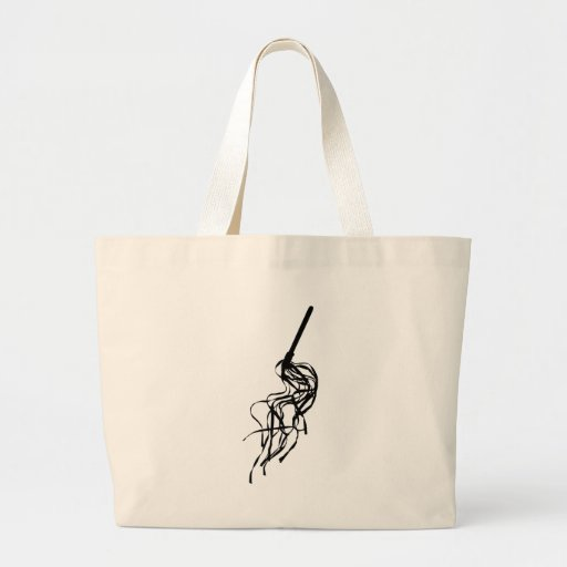 Cat of Nine Tails S&M Whip Outline Silhouette Jumbo Tote Bag