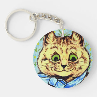 Cat of the blue ribbon, Louis Wain Keychain