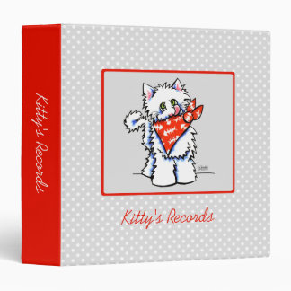 Cat Off-Leash Art™ Pet Records Custom Vinyl Binder