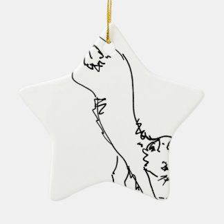 Cat Office Products.jpg Ceramic Ornament