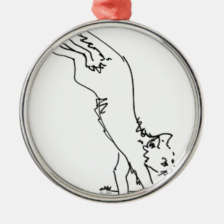 Cat Office Products.jpg Metal Ornament
