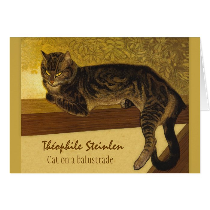 Cat on a balustrade CC0575 Théophile Steinlen Card