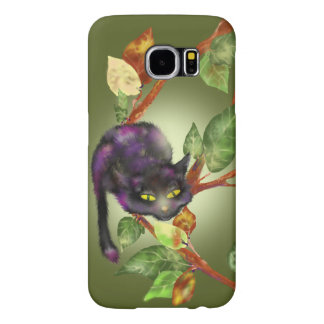 Cat on a branch samsung galaxy s6 cases