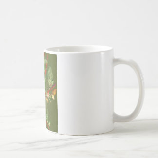 Cat on a branch classic white coffee mug