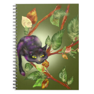 Cat on a branch notebook