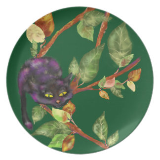 Cat on a branch plate