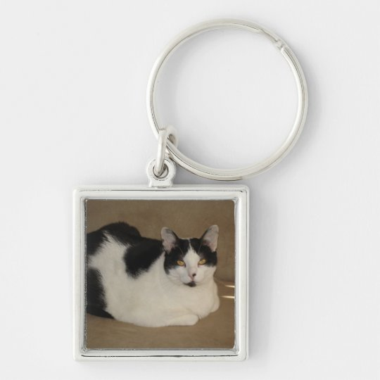 Cat On A Couch Keychain