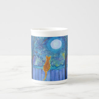 Cat on a fence tea cup