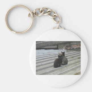 Cat on a Hot Tin Roof Keychain
