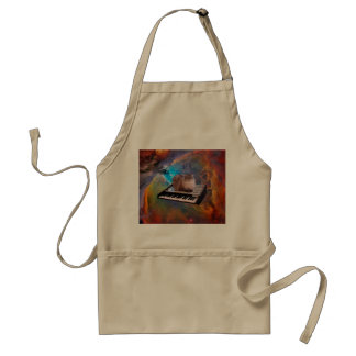 Cat on a Keyboard in Space Adult Apron