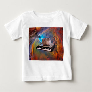 Cat on a Keyboard in Space Baby T-Shirt