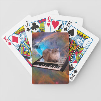 Cat on a Keyboard in Space Bicycle Playing Cards