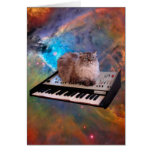 Cat on a Keyboard in Space Greeting Card
