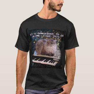 Cat On A Keyboard In Space Internet T-Shirt