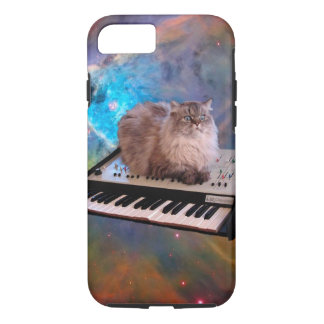 Cat on a Keyboard in Space iPhone 8/7 Case